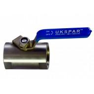 Кран шаровый моноблочный UKSPAR HBV-140M-SS Ду 8 Ду 8