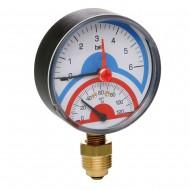Термоманометр радиальный ICMA 258 0-120С 0-4 бар