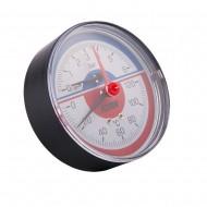 Термоманометр фронтальный ICMA 259 0-120С 0-6 бар