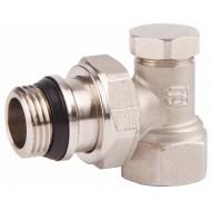Клапан запорный радиаторный SD Forte SF229 Classiс угл. с антипротеч. 1/2