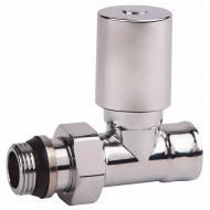 Вентиль радиаторный SD Forte SF237 хром с антипротеч. 1/2