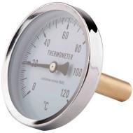 Термометр боковое подключение SD Plus SD174 120°C Штуц. 40 мм