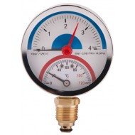 Термоманометр нижнее подключение SD Plus SD172 120°C 0...4 бар
