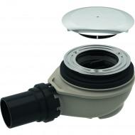 Сифон для душевого поддона d90, высота гидрозатвора 50 мм, c крышкой сливного отверстия, d50 мм PE-HD, хром глянцевый
