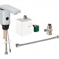 HyTronic186 ИК смеситель бесконтактный для умывальника, c миксером, с генератором, хром глянцевый