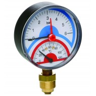 Термоманометр вертикальный (нижнее подкл.) Emmeti Fiv 80мм