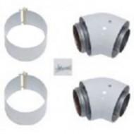 Комплект концентрических отводов Protherm 60/100 мм 45° (2 шт) (турбо)