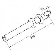 Комплект для горизонтального прохода сквозь стену Protherm 80/125 мм