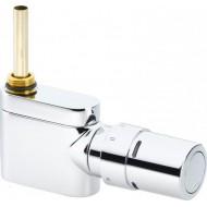 Клапан под термоголовку+ термоголовка RAX с одноточечным подключением Danfoss VHX-MONO хром 1/2'' прямой