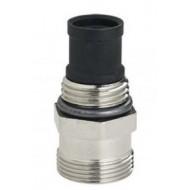 Комплект из термостат. клапана и гнезда (ручного вентиля) (синий) Emmeti Fiv 01306114