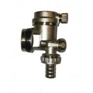 Концевик - автомат. спускник воздуха (моноблок) угловой с краном Gross 1