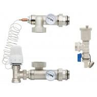 Смесительная система для коллектора Gross HS-02 угловой клапан