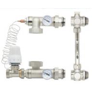 Смесительная система для напольного отопления Gross HS-04 белый угловой клапан