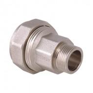 Соединитель для стальных труб с переходом на  нар. р. Valtec VTr.801 никель