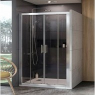 10DP4-170 (Transparent) White Душевая дверь