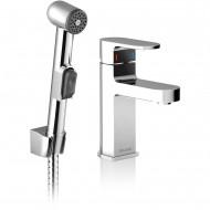Chrome CR 112.00 Смеситель для умывальника с гигиеническим душем с открыванием стока